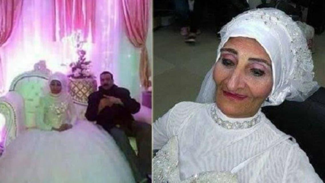 """مسنة مصرية احتفلت بـ""""زفافها"""""""