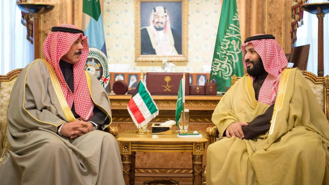 Saudi Arabia's Deputy Crown Prince Mohammed bin Salman met with Kuwaiti Minister of Defense Sheikh Mohammed al-Khaled al-Sabah. (SPA)