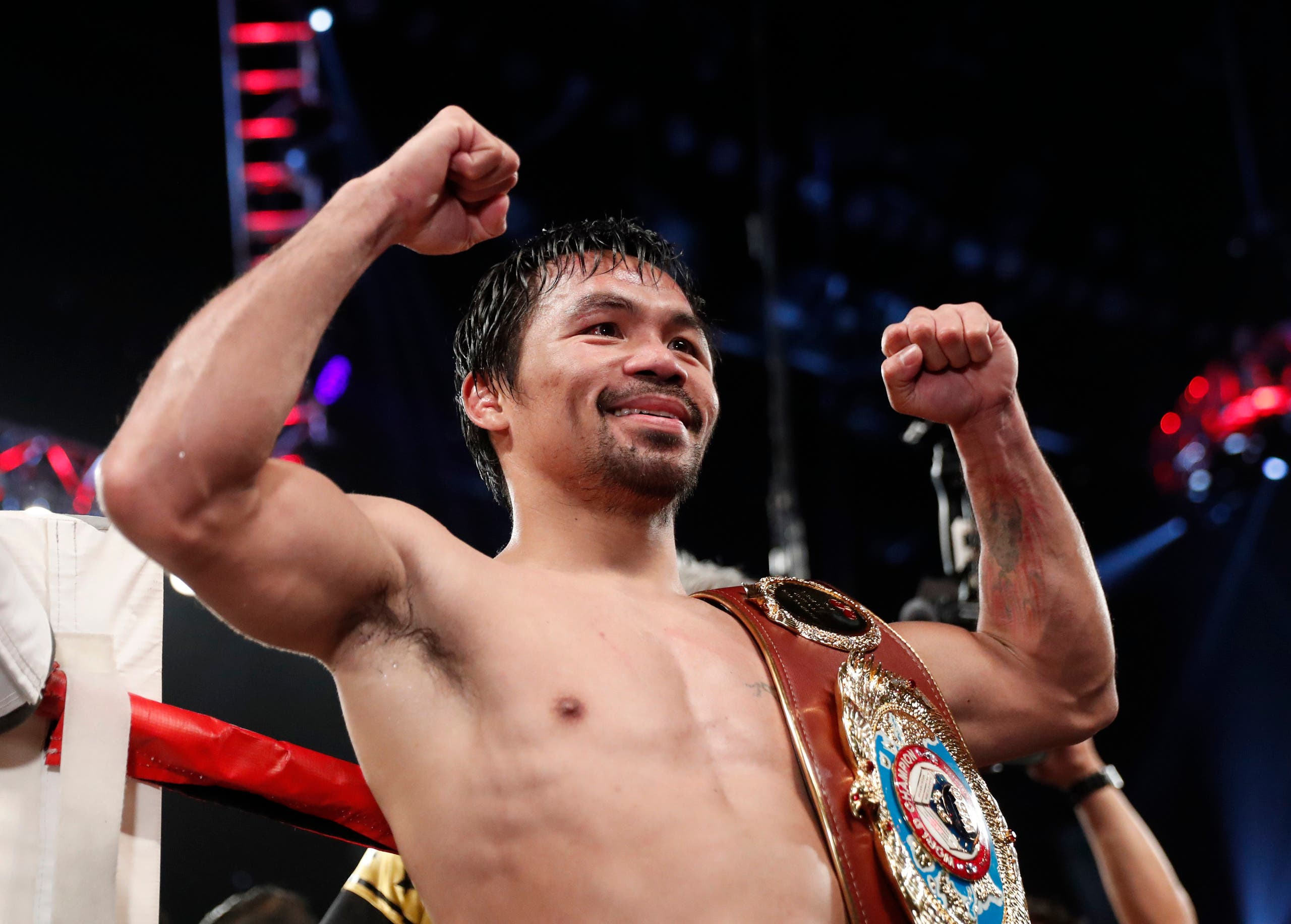 Manny Pacquiao after beating Jessie Vargas in the WBO welterweight bout in Las Vegas on Saturday, November 5, 2016. (AP)