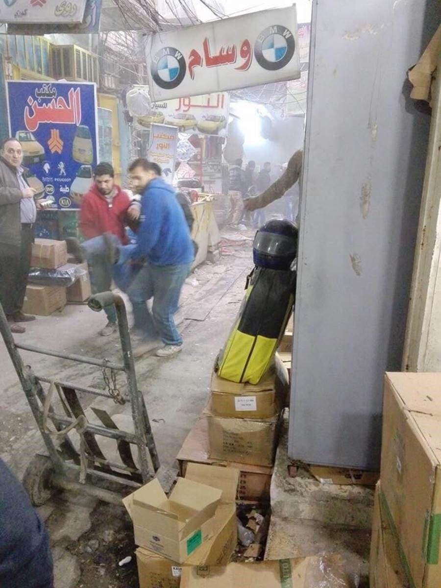 بازار محل انفجار