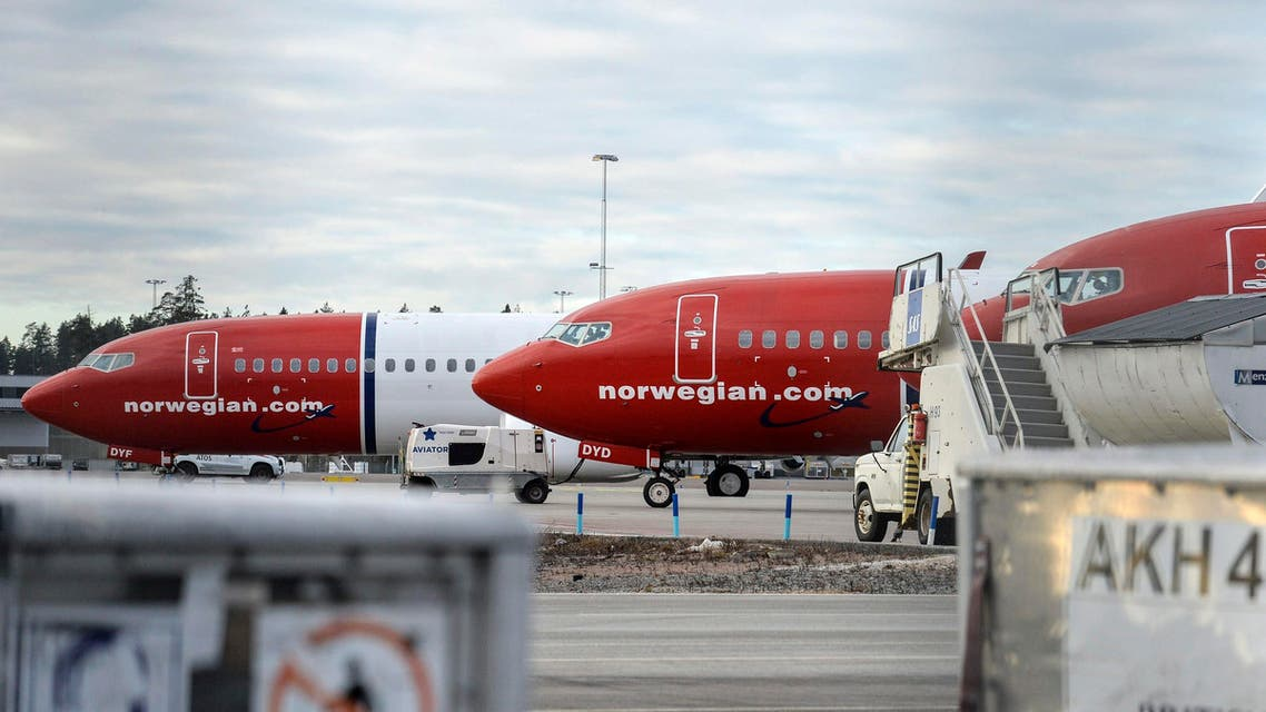 A view of parked aircrafts belonging to budget carrier Norwegian at Stockholm Arlanda Airport March 5, 2015. (Reuters)