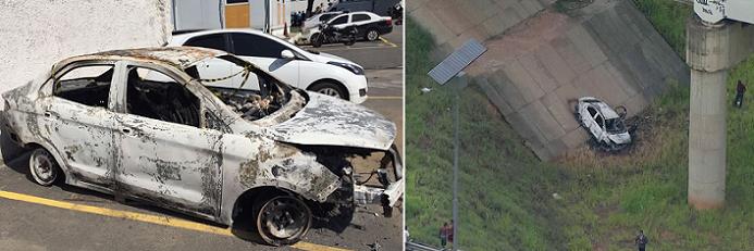 عثروا على السيارة التي استأجرها محترقة، وفي مقعدها الخلفي وجدوه جثة متفحمة