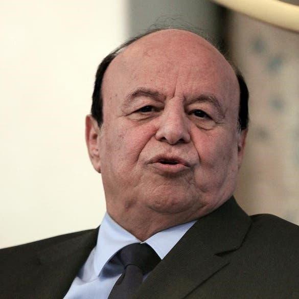 هادي يثني على موقف السعودية الرافض للمساس بوحدة اليمن