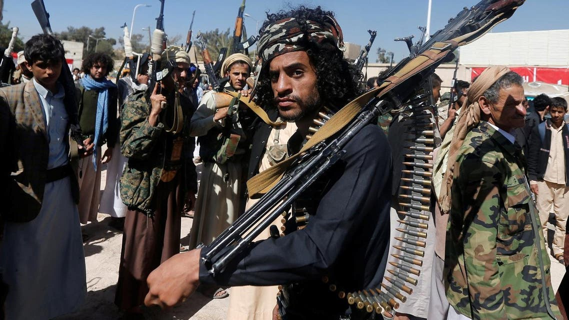 A Houthi militant attends a parade held by newly recruited Houthi fighters in Sanaa. (Reuters)