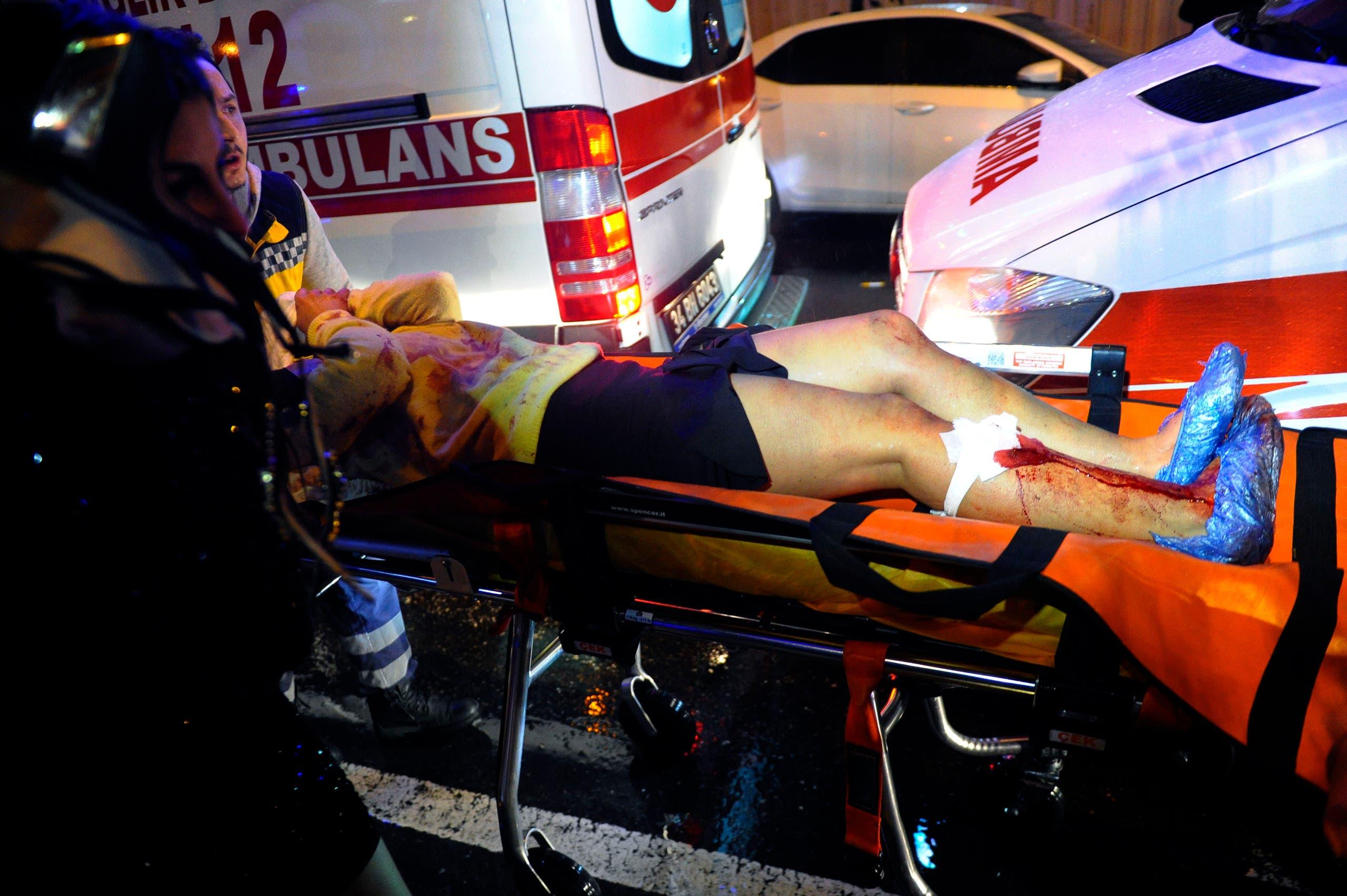 مصاب في هجوم ليلة رأس السنة في اسطنبول