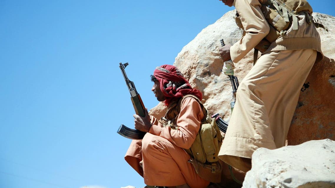 Yemeni tribesmen from the Popular Resistance Committees hold a position. (AFP)
