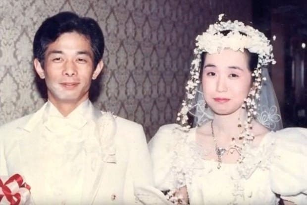الياباني الصامت وزوجته في حفل زفافهما