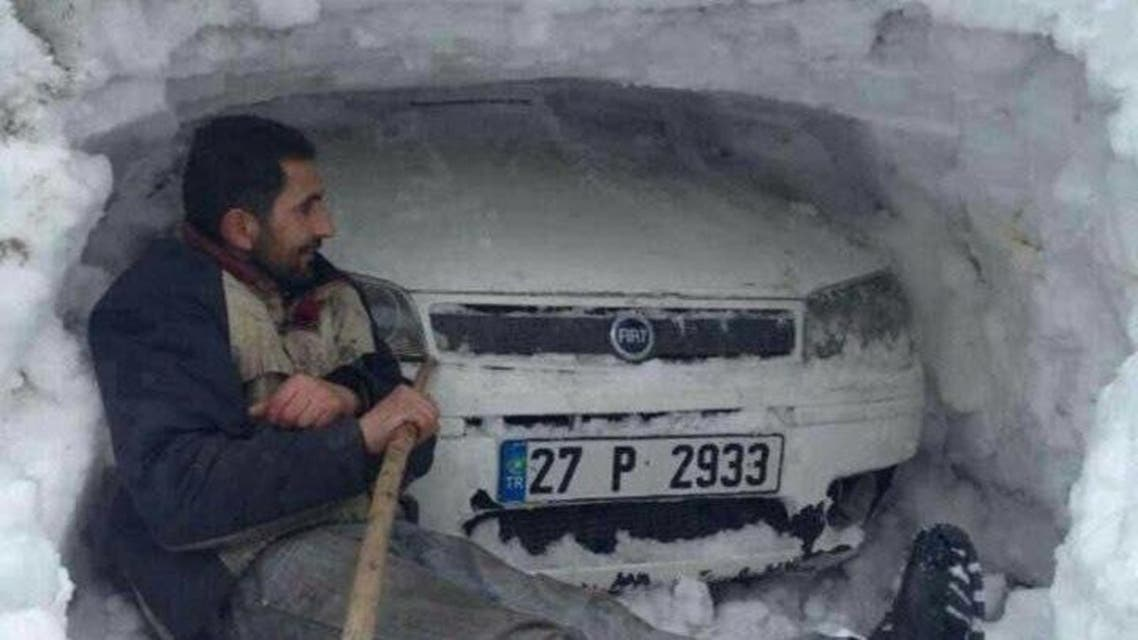 Turkish city covered with blankets of snow