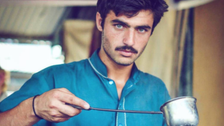 What happened to the blue eyed tea maker in Pakistan?