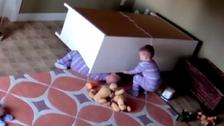Boy, 2, saves twin from under fallen dresser