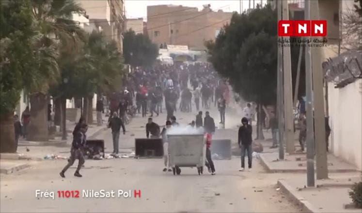 احتجاجات في القصرين التونسية