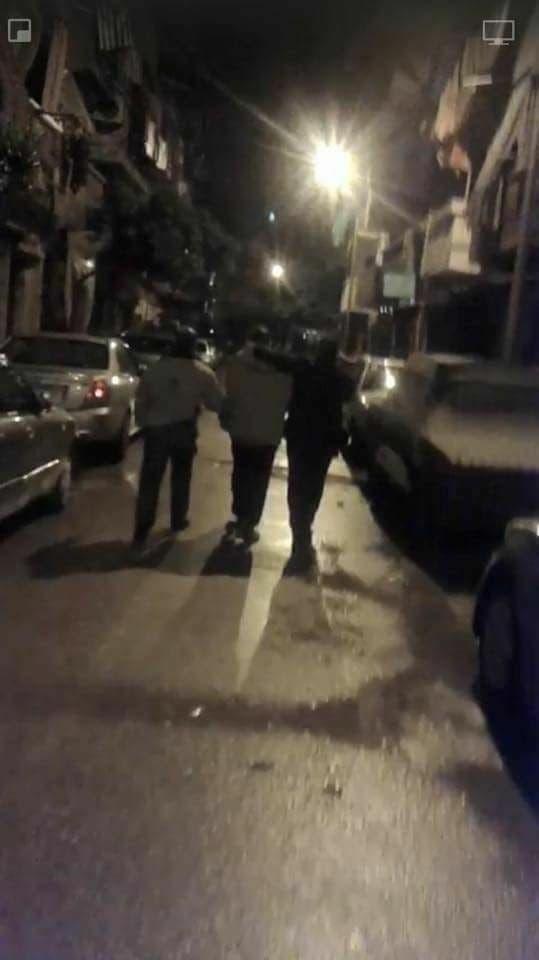 صورة للحظة القبض على القاتل