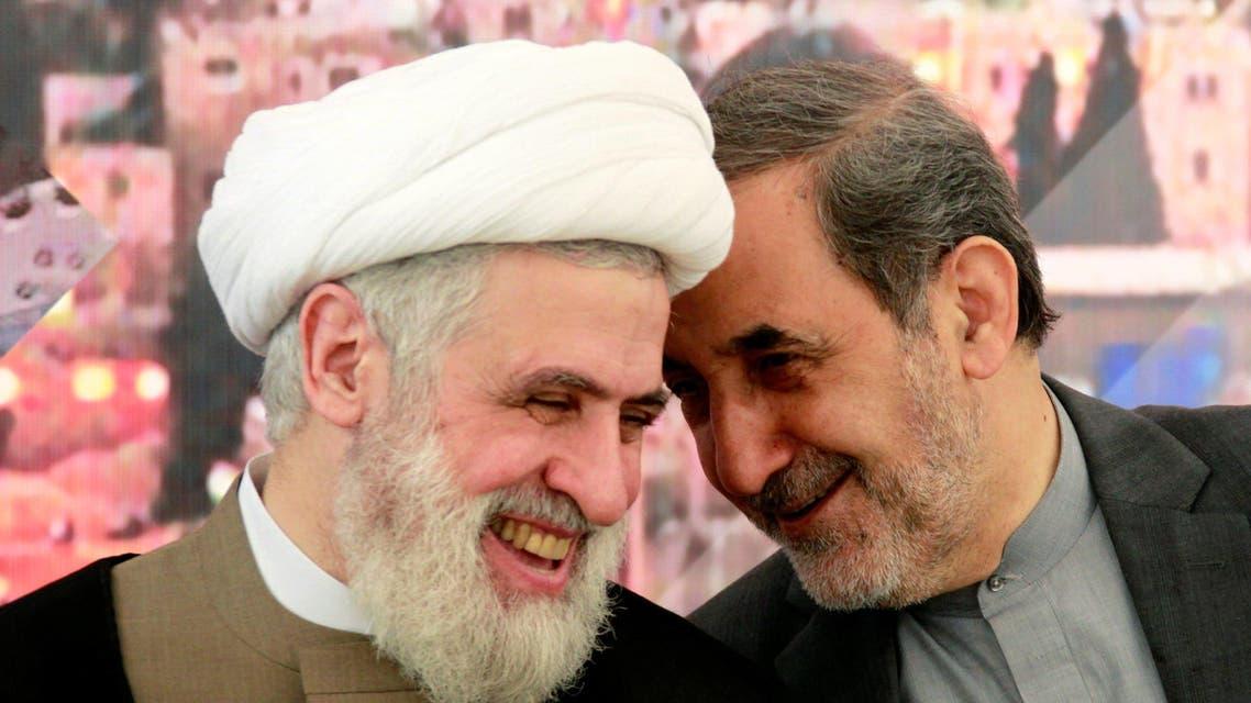 Ali Akbar Velayati (R), Iran's Supreme Leader Ayatollah Ali Khamenei's top advisor on international affairs, talks with Lebanon's Hezbollah deputy leader Sheikh Naim Qassem. (File photo: Reuters)