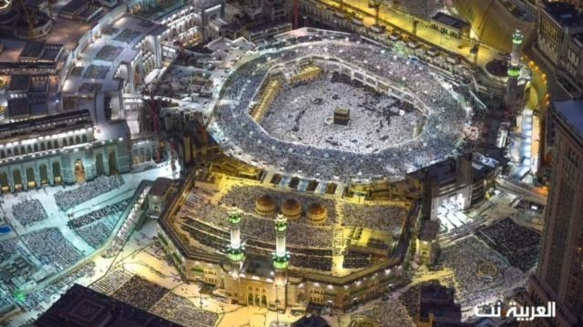 """October 16, 2016: For the first time, the Yemeni corner of the Kaaba has a golden line. The Kaaba has four corners, with its northern corner known as the """"Iraqi corner,"""" the western as the """"the Levantine corner,"""" the southern as the """"the Yemeni corner,"""" and the Black Stone, which Muslims believe dates back to the time of Adam and Eve, is placed in the eastern corner of the structure. October 22, 2016: An image emerged of pilgrims circulating the Kaaba forming a heart shape."""