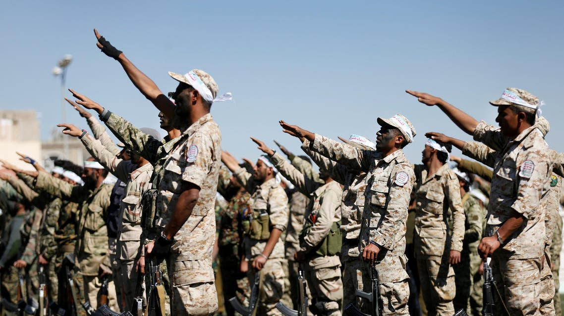 Newly recruited Houthi fighters parade before heading to the frontline to fight against government forces, in Sanaa, Yemen January 4, 2017