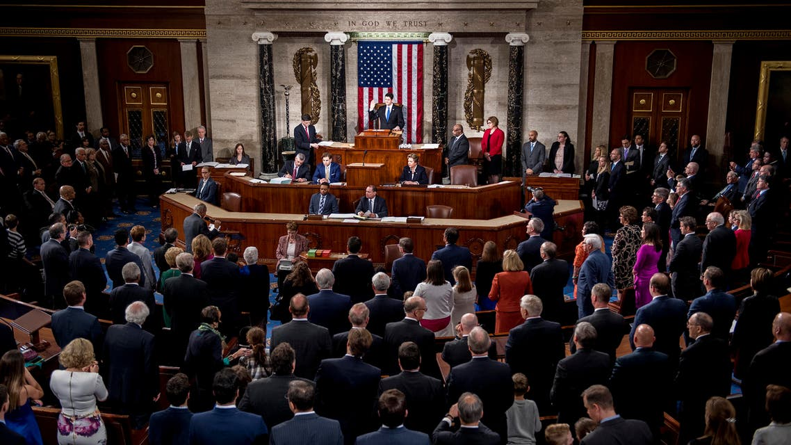 Speaker of the House Paul Ryan (C), R-Wisconsin, swears in the newly elected members of the House of Representatives during the opening of the 115th US Congress on Capitol Hill in Washington, DC, January 3, 2017. (AFP)