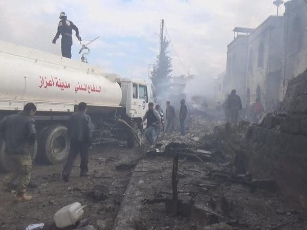المرصد: القوات السورية تقصف مدينة إعزاز شمال حلب