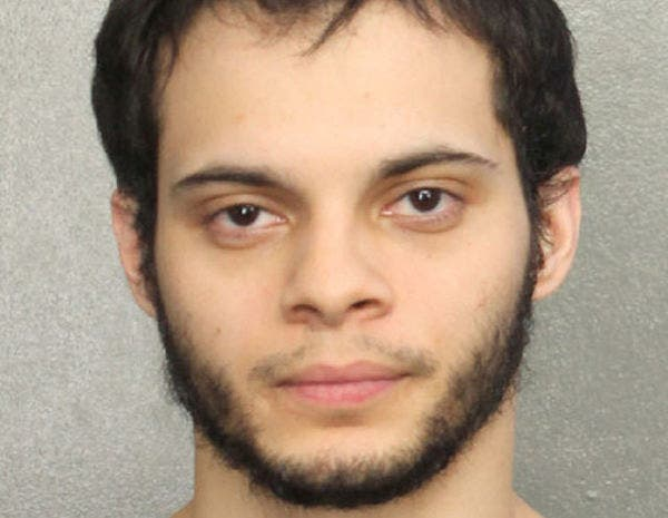 Esteban Santiago, is shown in this booking photo provided by the Broward County Sheriff's Office in Fort Lauderdale, Florida, January 7, 2017. (Reuters)