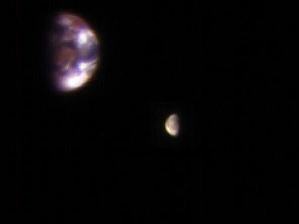 صورة للأرض كما تظهر للناظر إليها من 205 ملايين كيلومتر