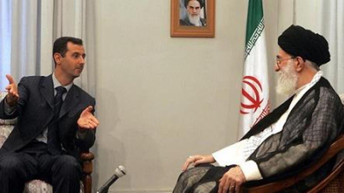 مرشد إيران علي خامنئي ورئيس النظام السوري بشار الأسد