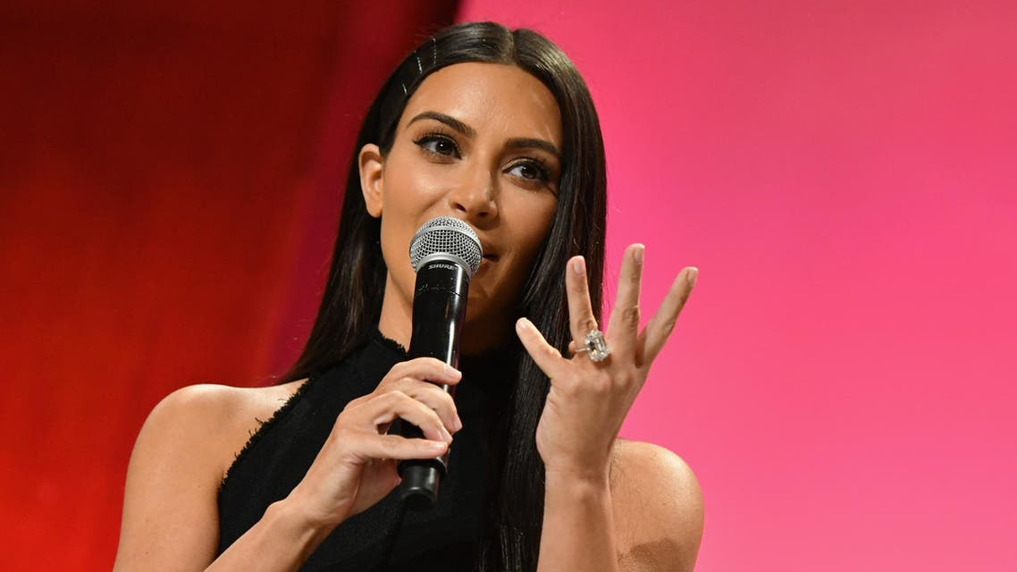 NEW YORK, NY - SEPTEMBER 27: (EXCLUSIVE ACCESS, SPECIAL RATES APPLY) Kim Kardashian-West speaks at The Girls' Lounge dinner, giving visibility to women at Advertising Week 2016, at Pier 60 on September 27, 2016 in New York City. Slaven Vlasic/Getty Images for The Girls' Lounge/AFP