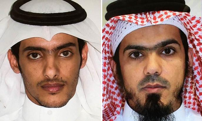 من اليمين، طايع بن سالم بن يسلم الصيعري وطلال بن سمران الصاعدي