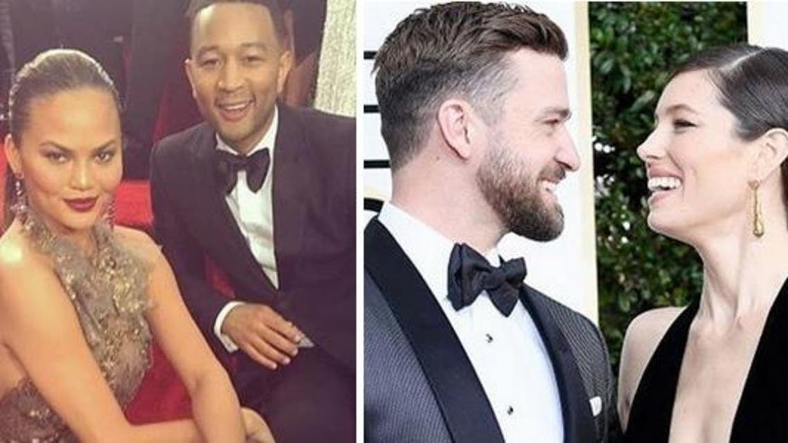 These celebrity pairs gave us #FashionGoals at the 74th Golden Globe Awards. (Instagram)