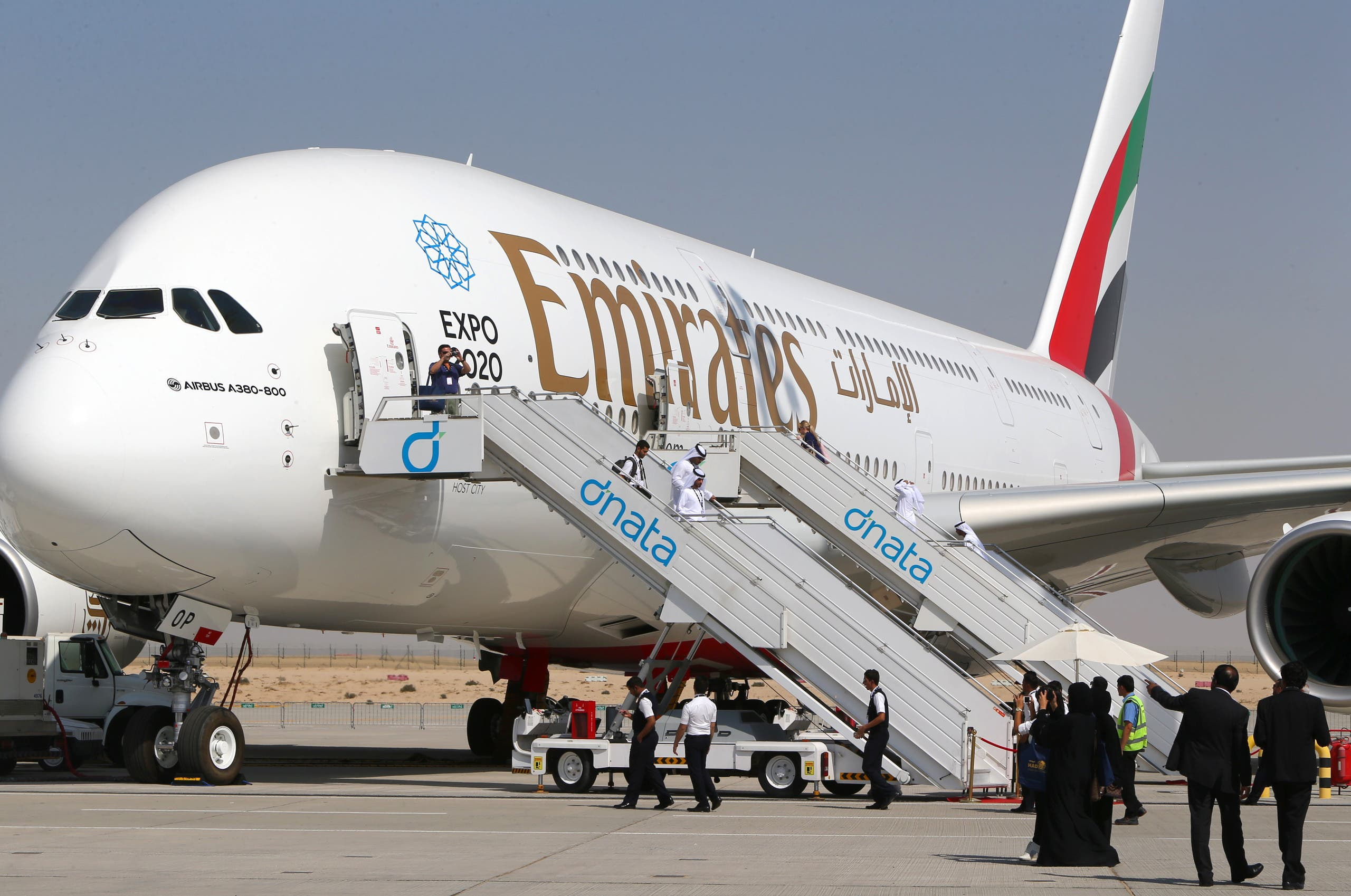 An Emirates flight from Dubai to Muscat was cancelled after baggage handlers discovered a snake in the aircraft's cargo hold. (AFP)