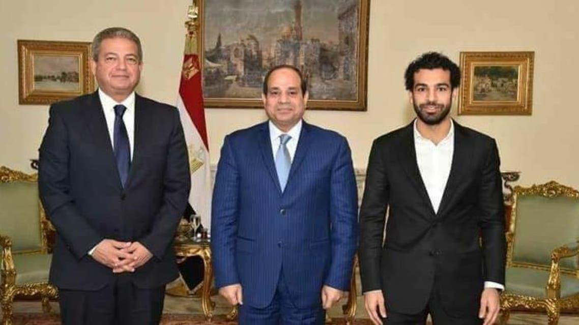 السيسي يستقبل محمد صلاح