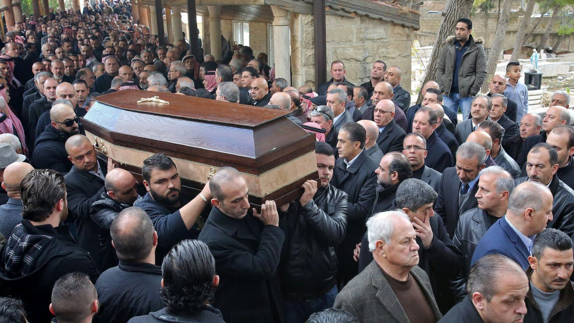 Relatives and friends of Nawras Assaf, one of the victims from Istanbul's New Year nightclub attack, carry his coffin during his funeral in the town of Al-Fuhays near the Jordanian capital Amman, on January 3, 2017. (AFP)