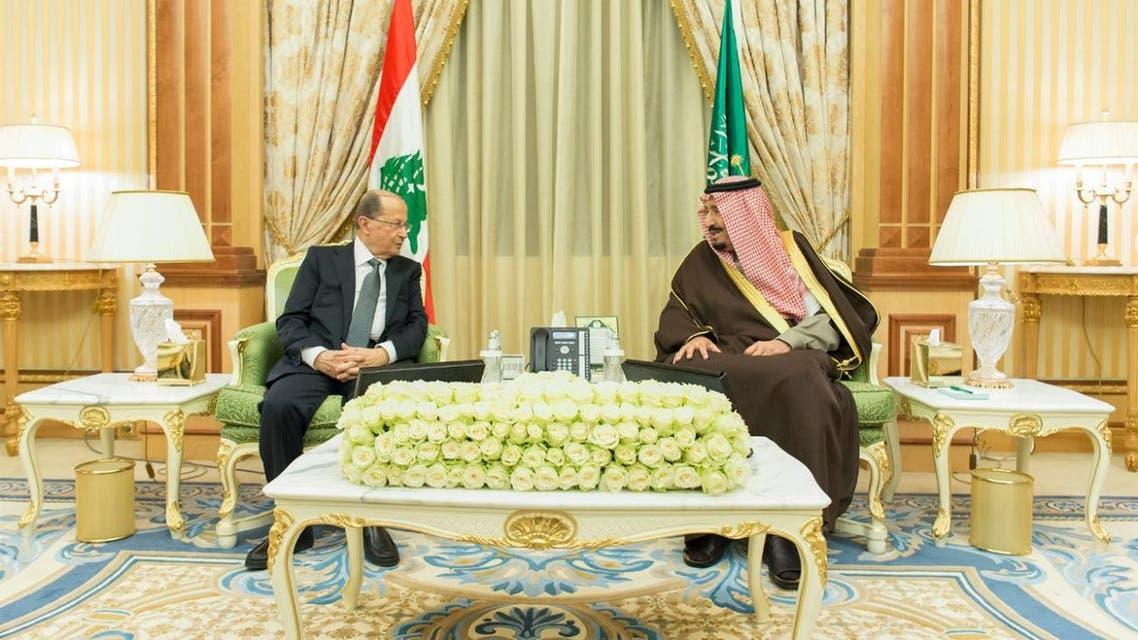 saudi king lebanese aoun