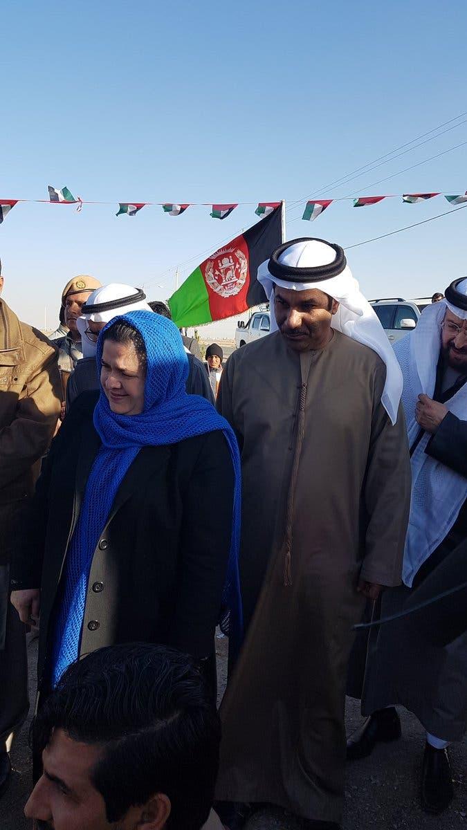 صور لزيارة الكعبي من حساب السفارة الإماراتية في أفغانستان على تويتر