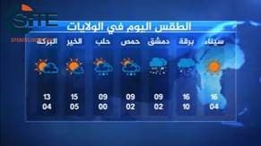 A screengrab of a weather report apparently created by ISIS