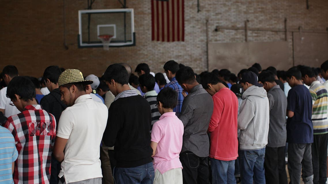 Muslim youths pray during the 2nd annual New Horizons gathering on June 5, 2011 in the Brooklyn borough of New York City. (File photo: AFP)