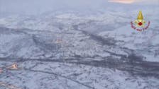 Drone footage shows snow in Europe