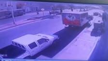 Graphic video: Man run over by speeding car in Saudi Arabia