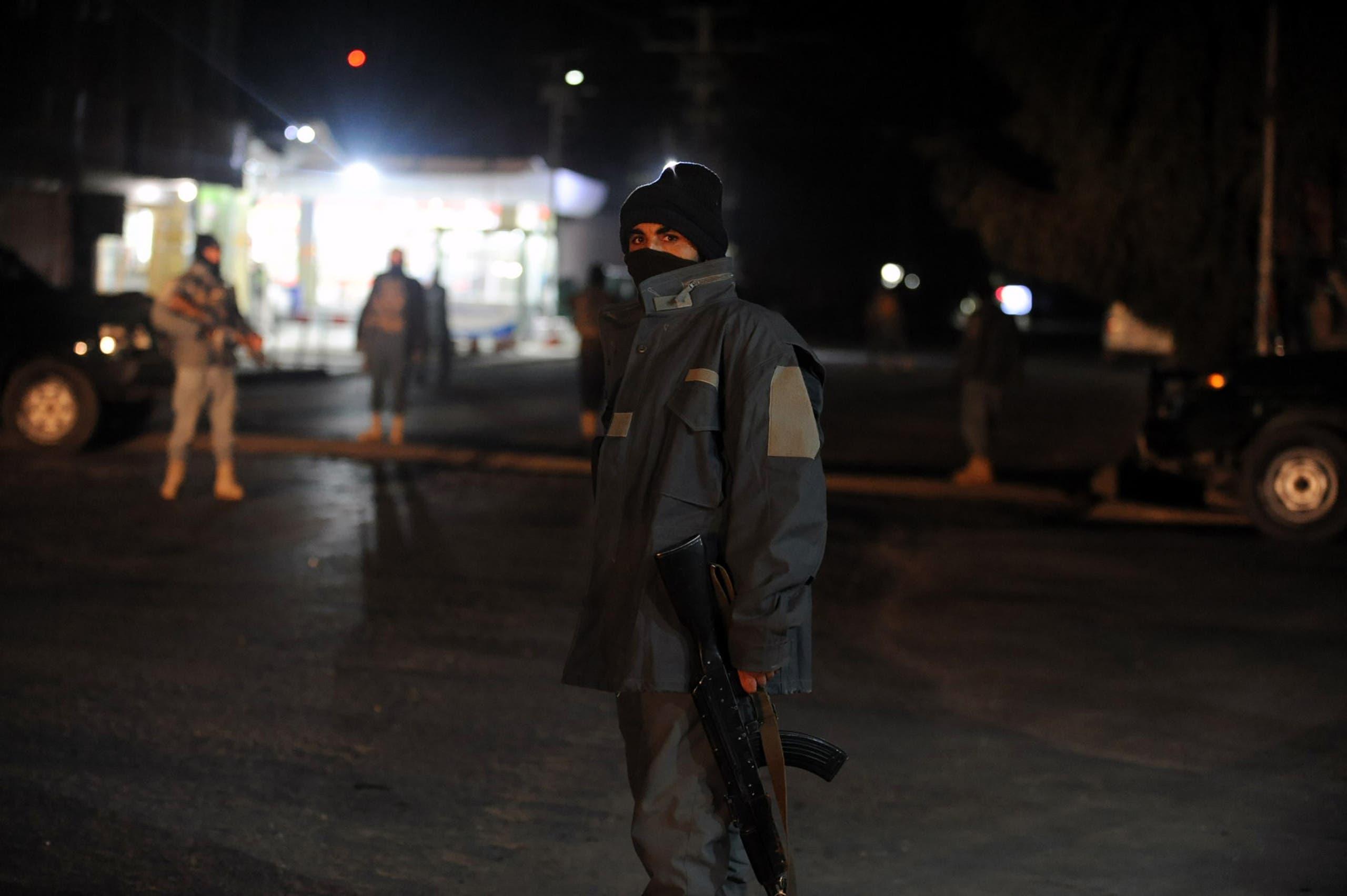 الشرطة الأفغانية في مكان الحادث