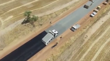 Viral VIDEO: How a 4.9km road in Australia was laid in two days