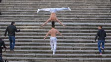 Watch: Man breaks record as he climbs 90 steps balancing a man on his head