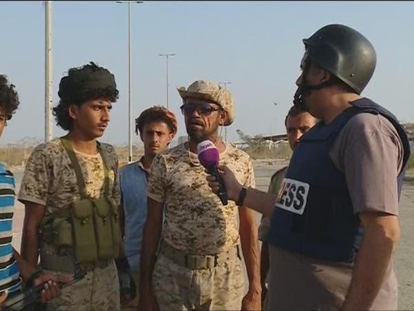 كاميرا العربية مع قوات الشرعية تجول في منفذ حرض اليمني