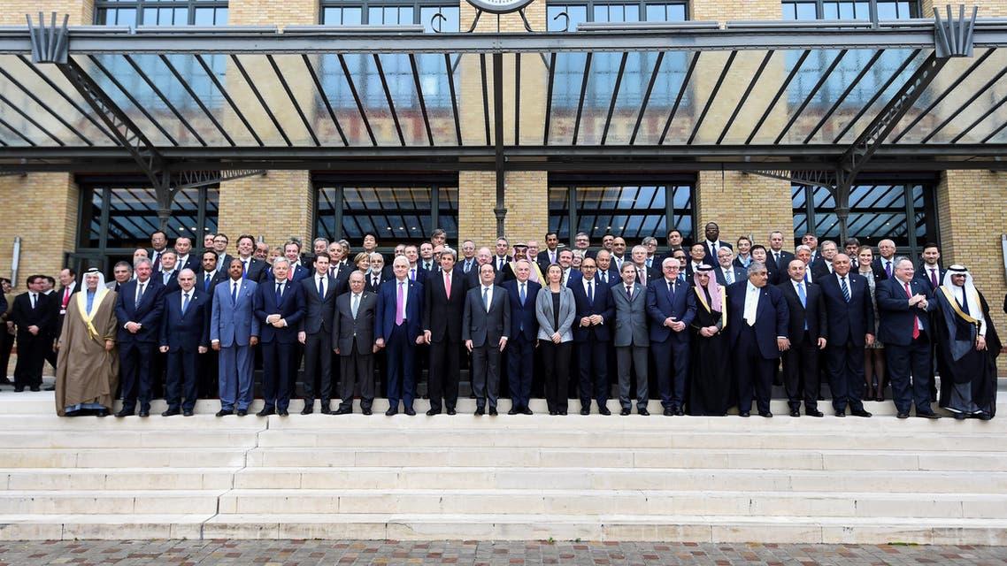 وزراء خارجية وممثلون لـ70 دولة شاركوا في مؤتمر باريس للسلام