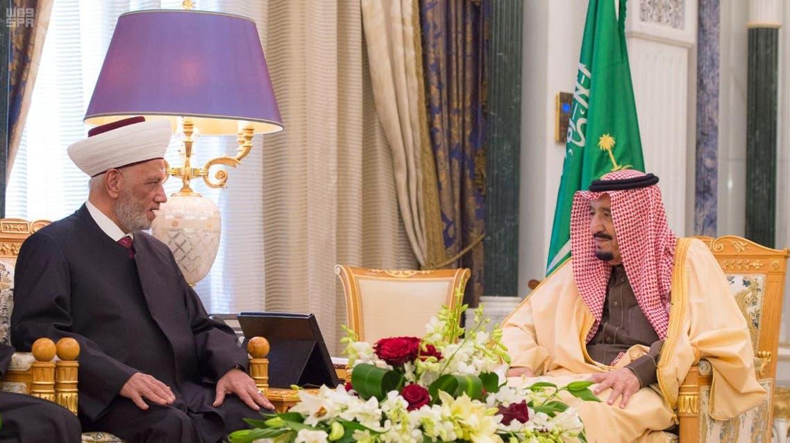 الملك سلمان و مفتي لبنان - رئيسية