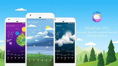 تطبيق للطقس بتصميم أنيق على أندرويد