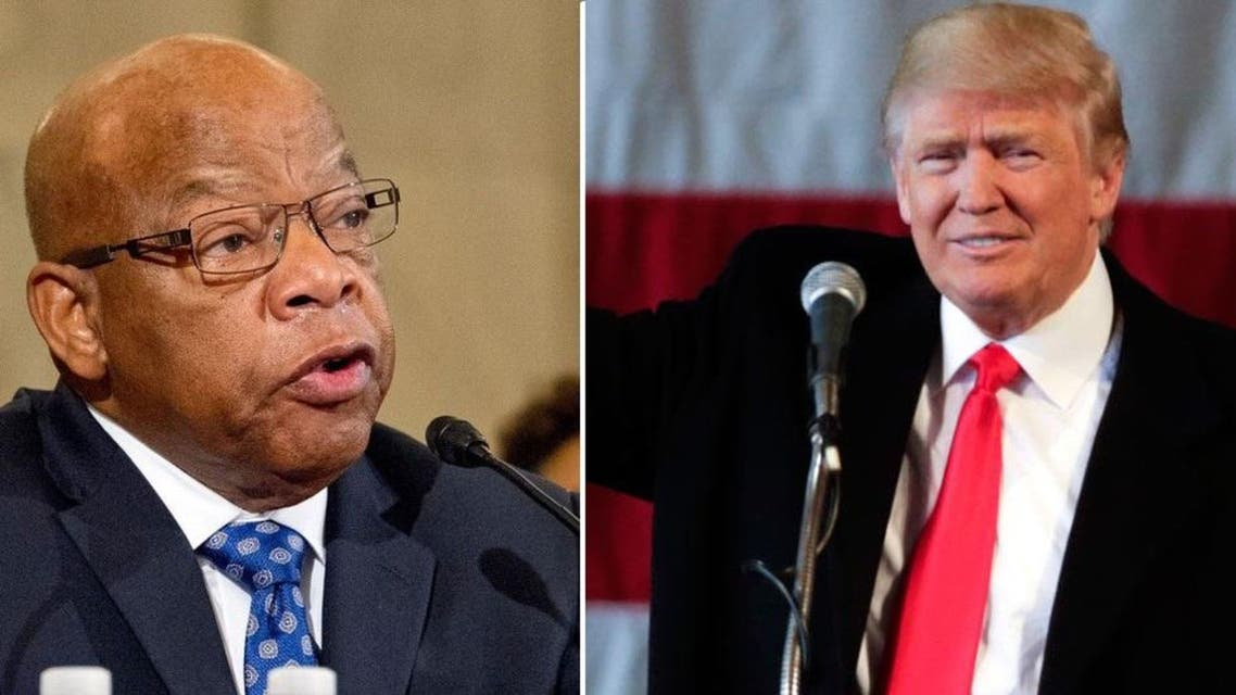 "US Representative John Lewis (L), a Georgia Democrat, said on a segment of ""Meet the Press"" released by NBC on Friday he thought hacking by Russians had helped Trump. (AP)"