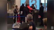 شاهد كيف صفعت امرأة موظفة المطار بعد أن فاتتها الطائرة