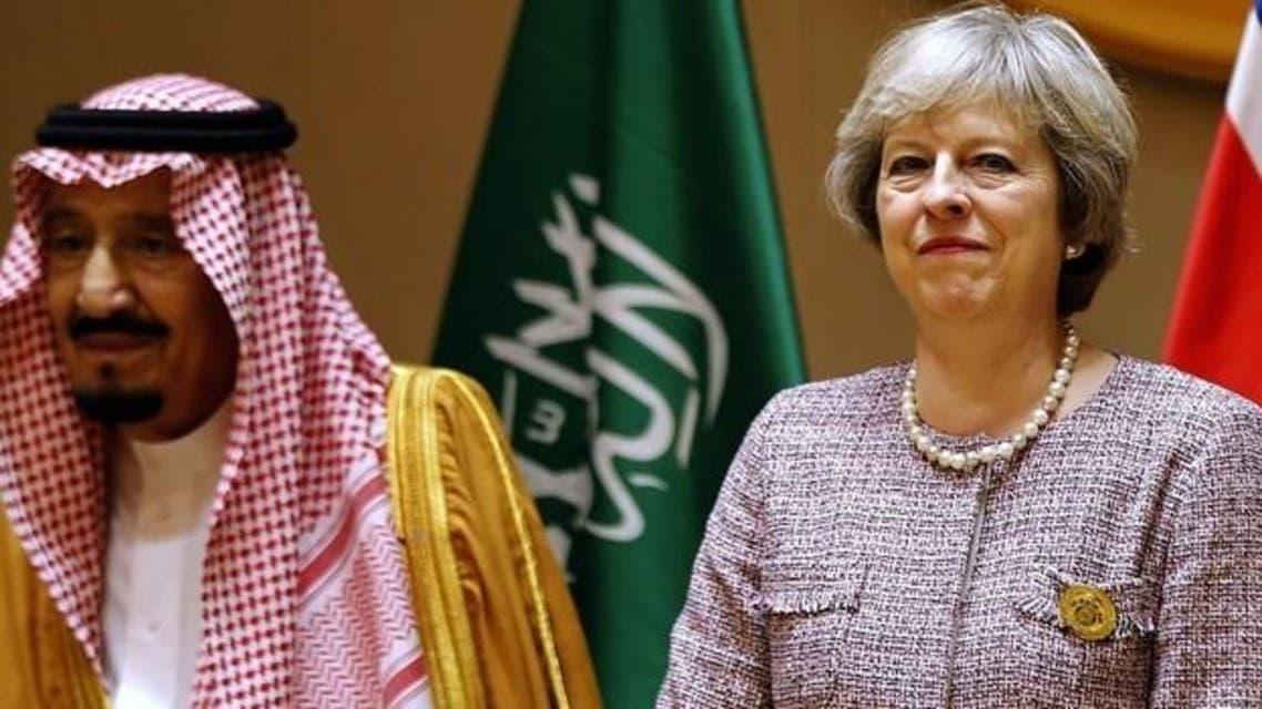 Saudi Arabia's King Salman with British PM Theresa May. (File photo: AFP)