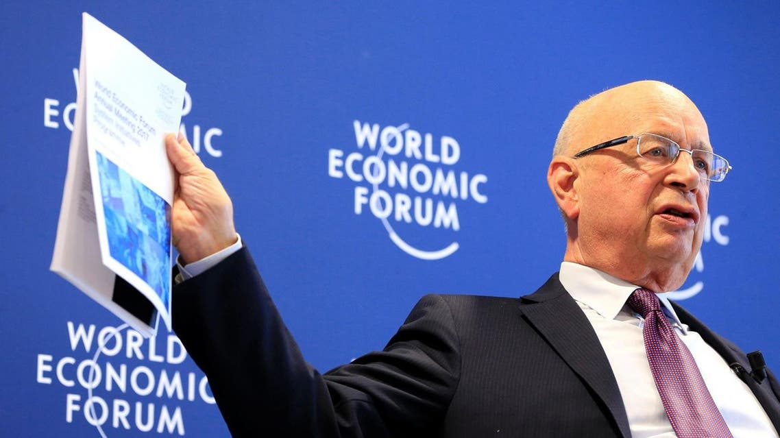 World Economic Forum Executive Chairman and founder Klaus Schwab attends a news conference in Cologny, near Geneva. (Reuters)