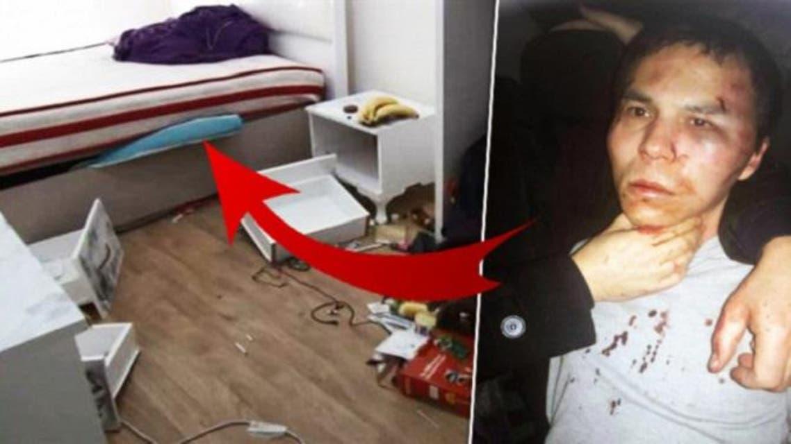 عندما اقتحم عناصر مكافحة الارهاب الأتراك غرفته بالشقة، وجدوه مختبئا تحت السرير