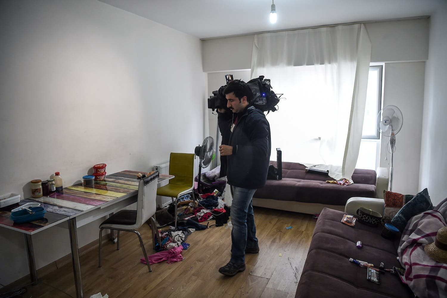 Inside of Reina attacker's hideaway apartment AFP