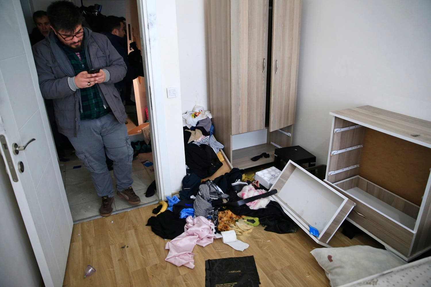 Inside of Reina attacker's hideaway apartment AP